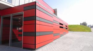 Черно красные композитные панели
