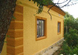 Декоративная штукатурка для фасада дома