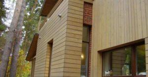 Деревянный фасад - имитация бруса