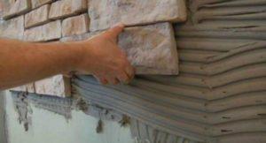 Фасадный клей для натурального камня