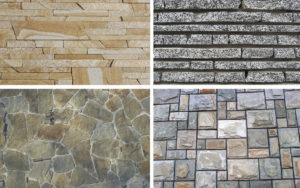 Формы камней для фасада