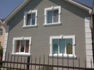 Фото дома сделанного по технологии мокрого фасада