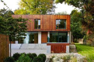 Красивый дизайн фасада частного дома