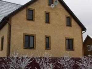 Облицовка фасада ракушечником