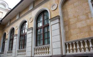 Облицовка фасадов мрамором