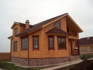Отделка домов блок хаусом
