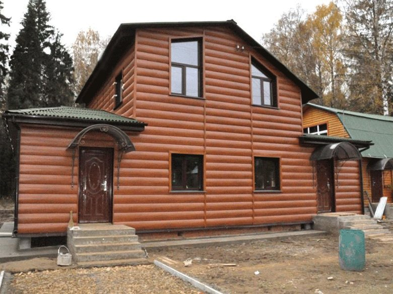 Отделка фасада деревянного дома блок хаусом