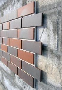 Отделка фасада керамической плиткой