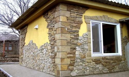 Отделка наружных стен натуральным камнем