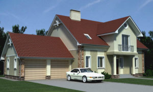 Планировка дома с гаражом