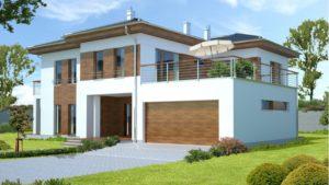 Проекты двухэтажных домов с гаражом и камином