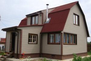 Самая дешевая отделка фасада дома