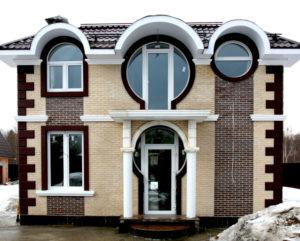 Современное оформление фасада клинкерной плиткой