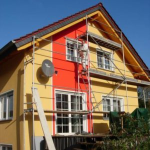 Технология покраски фасадов
