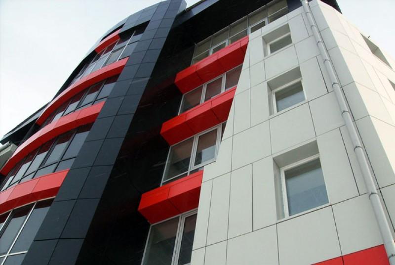Вентилируемые фасады — алюмокомпозитные панели