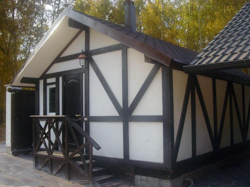Внешняя отделка дома в стиле фахверк