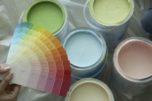 Выбор цвета краски