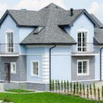 Бирюзовый цвет современного фасада
