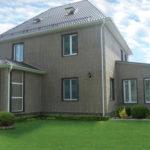 Бледные панели коричневого цвета для фасада