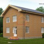 Двухэтажный дом с практичным фасадом квадратной формы