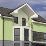 Фасад, исполненный в зеленом цвете