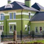 Фасад оливкового цвета
