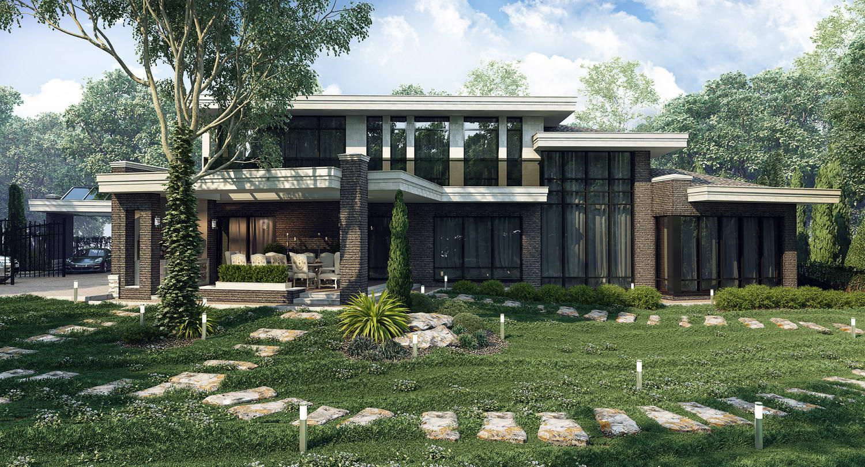 Фасад с привлекательной панорамой