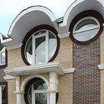 Современные фасады с круглыми окнами