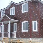 Фасадные панели под кирпич красного цвета