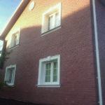 Фасадные панели под кирпич в коричневом оформлении