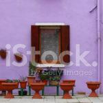 Фиолетовый фасад дома