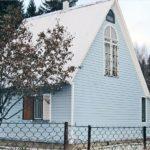 Голубой фасад для оформления дома
