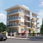 Готовый проект современного фасада пятиэтажного дома