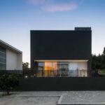 Используем панели черного цвета для фасада