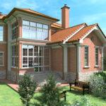 Как большие окна украшают фасад дома