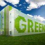 Как оригинально использовать зеленые панели для создания фасада