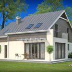 Как правильно создать красивый фасад с двухскатной крышей