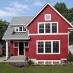 Как правильно создать красивый фасад в красном цвете