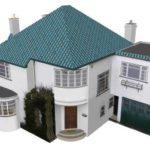 Как сделать красивый фасад с трехскатной крышей