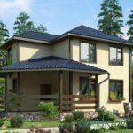 Как выглядит фасад с трехскатной крышей