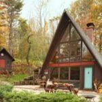 Как выглядит фасад с треугольным фасадом