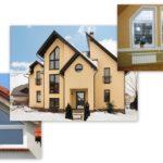 Красивые треугольные окна фасадов домов