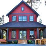 Красивый бордовый фасад