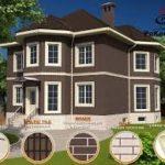 Красивый фасад коричневого цвета
