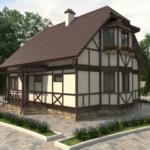 Красивый фасад с маленькими практичными окнами