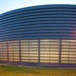 Красивый фасад в круглой форме