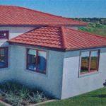 Красивый современный фасад с с трехскатной крышей
