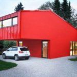 Красный цвет фасада