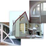 Красота фасада с треугольными окнами