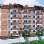 Многоквартирный пятиэтажный дом с красивым фасадом